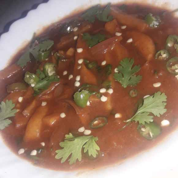 Photo of Schezwan potato semi Gravy by Yasmin Shabira at BetterButter