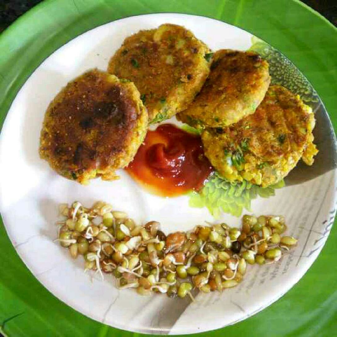 How to make Veg Sprouts Cutlets