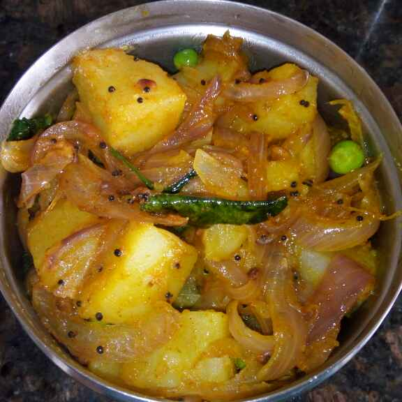 How to make Aloo Peas masala(South Indian style)
