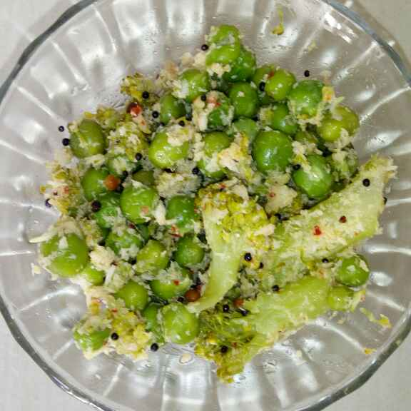 Photo of Broccoli Peas fry( South Indian style) by Vasuyavana  at BetterButter