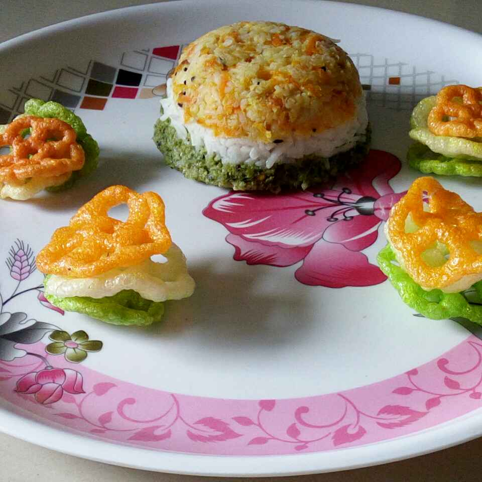 How to make Tricolour Rice(No Onion No garlic)
