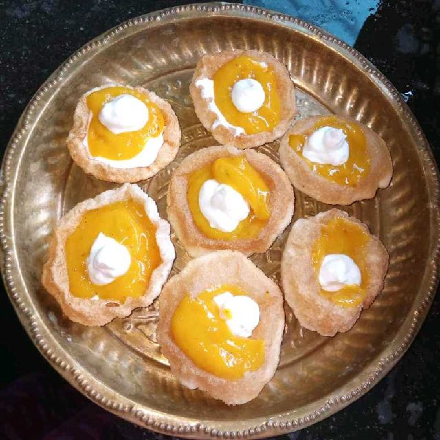 How to make Puri Aamras with Cream cheese