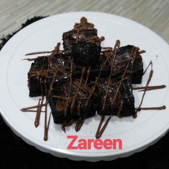 How to make Eggless Wholewheat nutella brownies