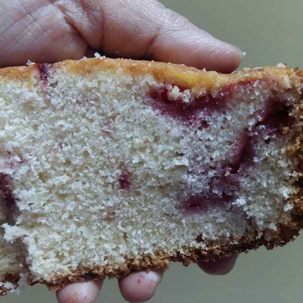 Photo of Wholewheat Fresh Strawberry Pound Cake by Zeba f lari at BetterButter