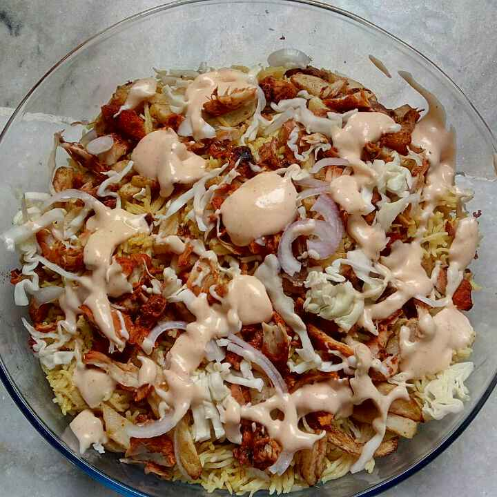 How to make Grilled Chicken on  Cinnamon Rice with Chilli Mayo