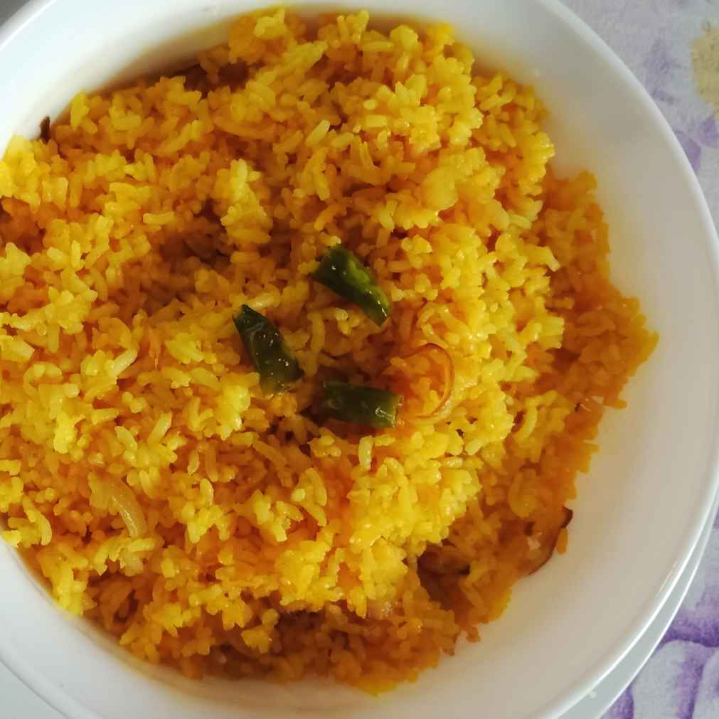 Photo of Stir fried Turmeric Rice by Zeba f lari at BetterButter