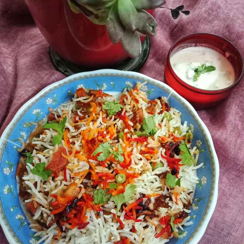 How to make मम्मी की सब्जी पुलाव