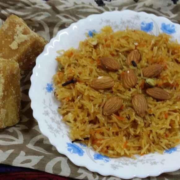 How to make Jaggery Rice (Gur Waley Chawal)