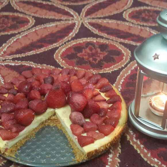 How to make Baked Strawberry Cheesecake