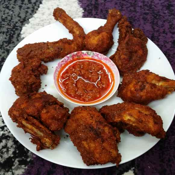 How to make Red and Fiery Fried Chicken