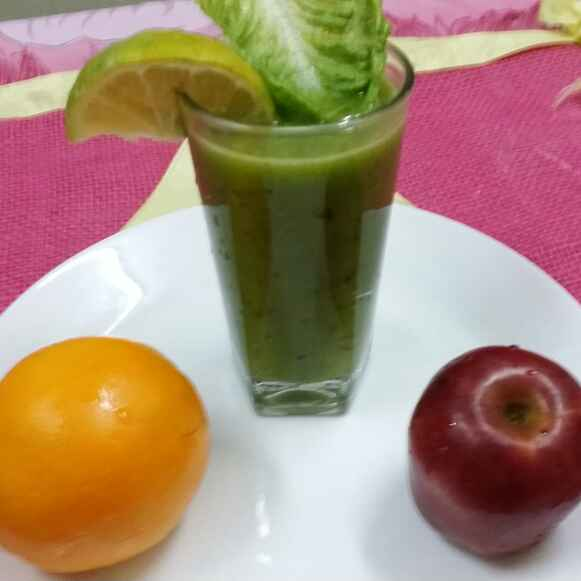 How to make Lemony Lettuce and Apple Juice