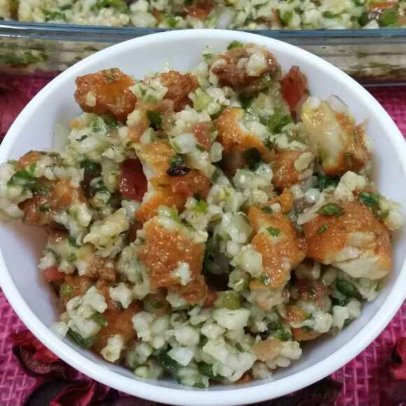 How to make Lebanese Tabbouleh Salad With Fried Fish