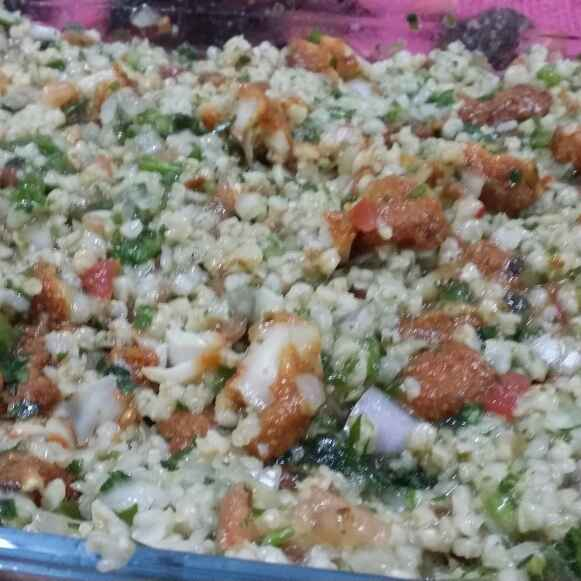 Photo of Lebanese Tabbouleh Salad With Fried Fish by Zeenath Muhammad Amaanullah at BetterButter