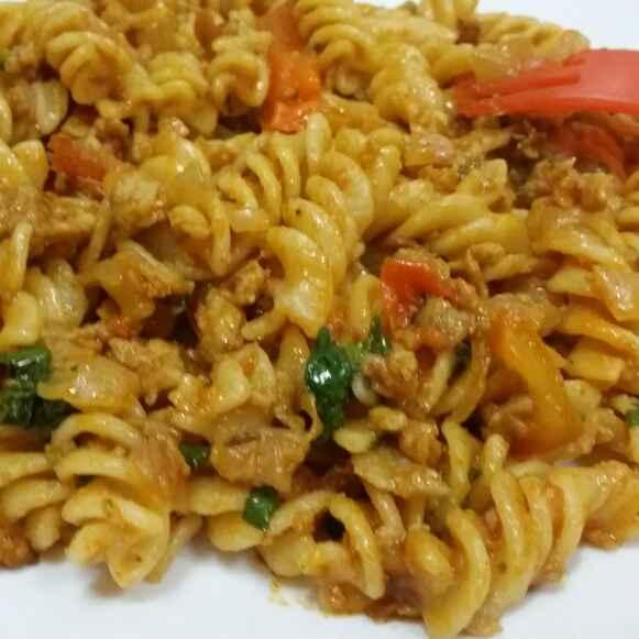 Photo of Veggi pasta in tomato sauce by Zeenath Muhammad Amaanullah at BetterButter