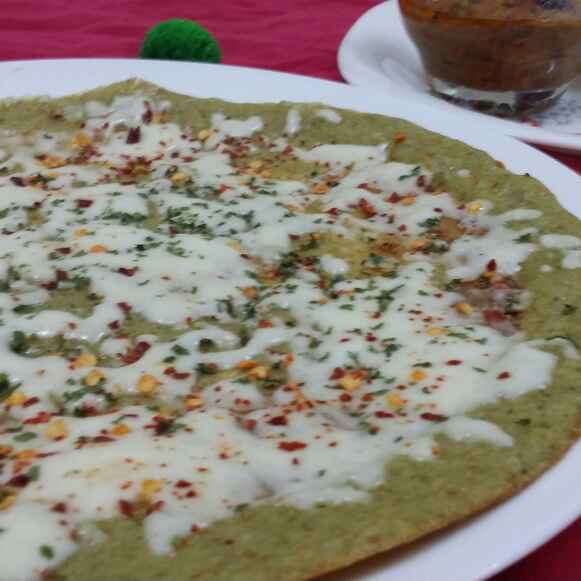 Photo of Cheesy moong dal dosa by Zeenath Muhammad Amaanullah at BetterButter