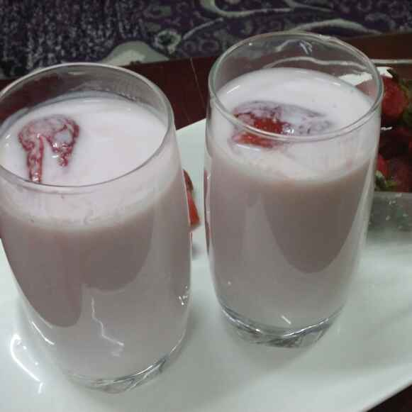 How to make Strawberry Flavored Laban