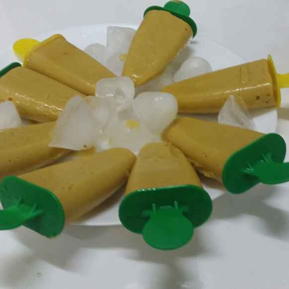 Photo of Mango and Peach Popsicles.. by Zeenath Muhammad Amaanullah at BetterButter