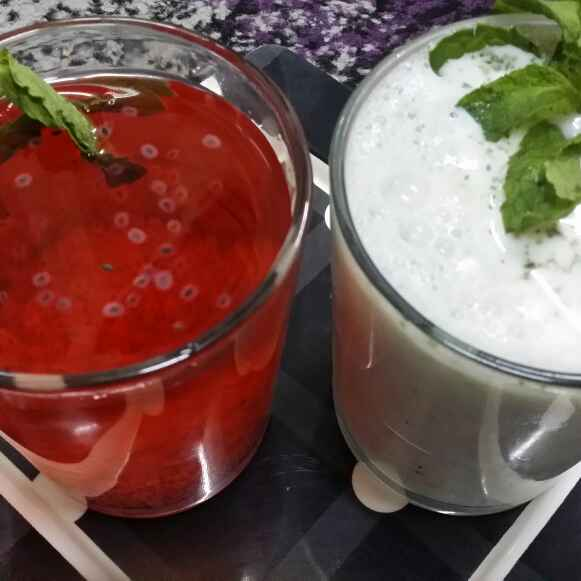How to make Yogurt Mint Lassi By Z and Rose Basil Lemonade