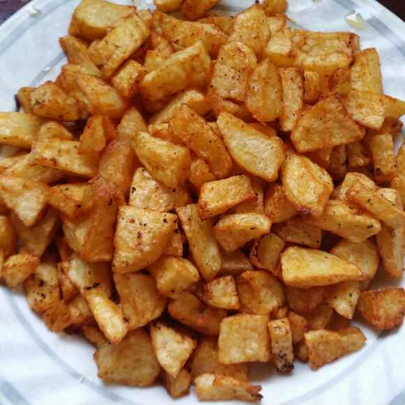Photo of Fried Potato Cubes by Zeenath Muhammad Amaanullah at BetterButter