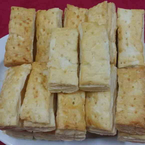 How to make Indian Khaari Biscuits..(Savoury Puff Pastry Bites)