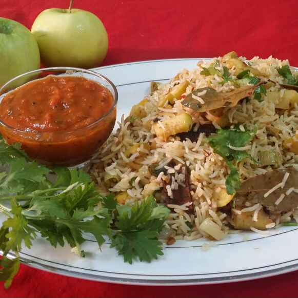 Photo of Green Apple Pilaf... by Zeenath Muhammad Amaanullah at BetterButter