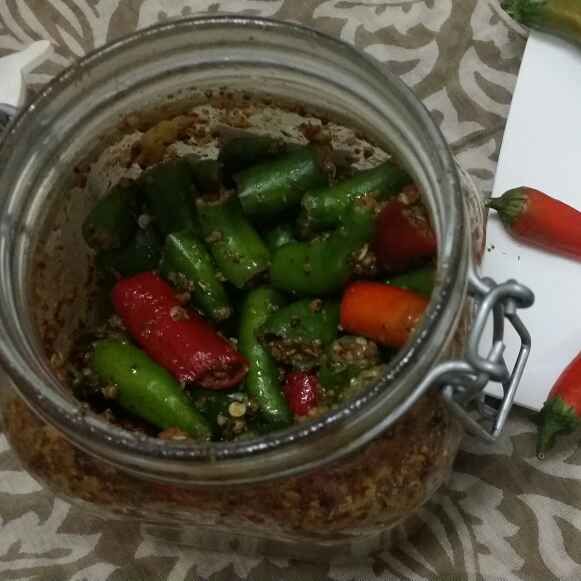 Photo of Green Chilli Pickle.. by Zeenath Muhammad Amaanullah at BetterButter