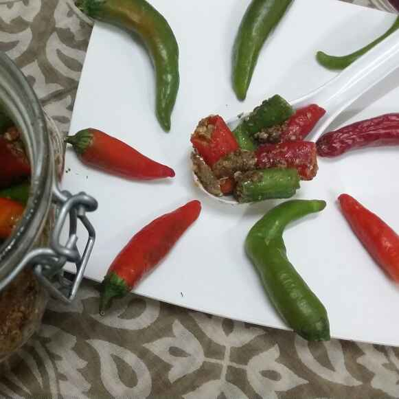 How to make Green Chilli Pickle..