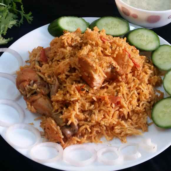 Photo of Methi Chicken Tahari (Hyderabadi Pulao with fenugreek leaves) by Zeenath Muhammad Amaanullah at BetterButter