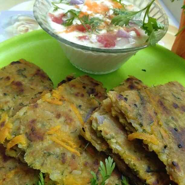 How to make Tummy tuck whole wheat n rice mix herb paratha