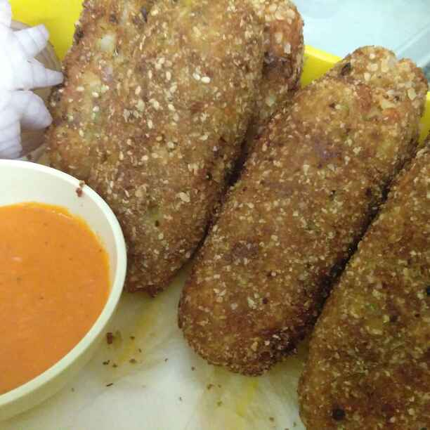 Photo of Finger Fish Cutlets with a Cheesy Surprise by Zulekha Bose at BetterButter
