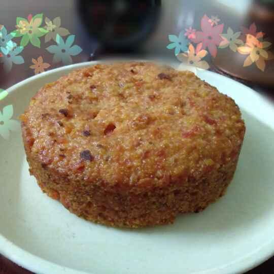 Photo of Gajar halwa paneer cheese cake by Zulekha Bose at BetterButter