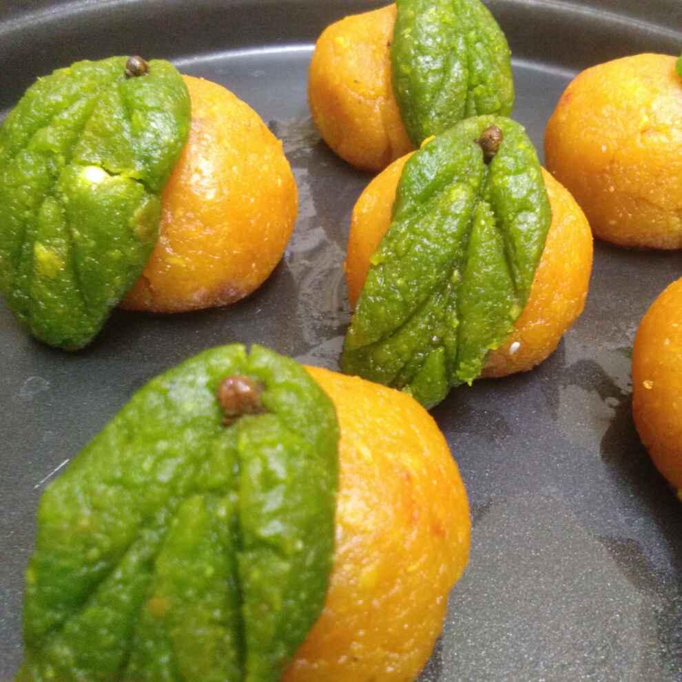 How to make नारंगी चना दाल औरसूजी के संतरे