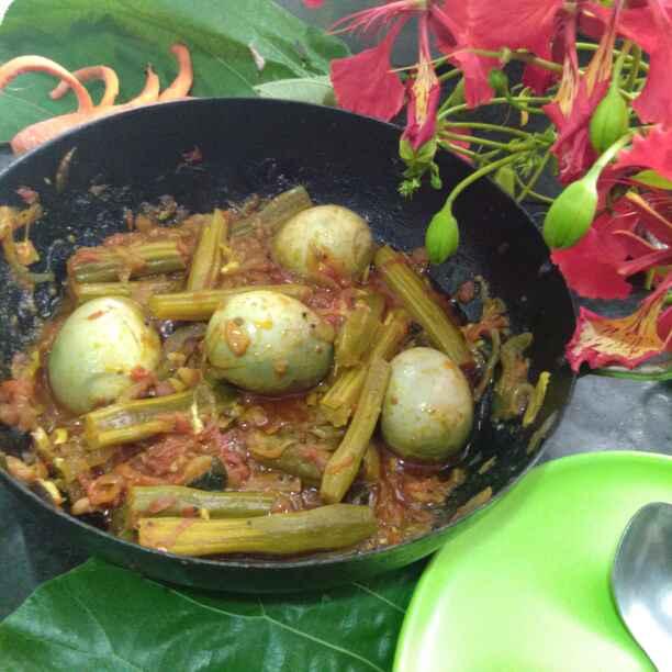 How to make कर्नाटक की नुग्गेकाई मोट्टे तरकारी हल्ली स्टाइल में/सहजन औरअंडे की सब्ज़ी कर्नाटक के गांव के स्टाइल में