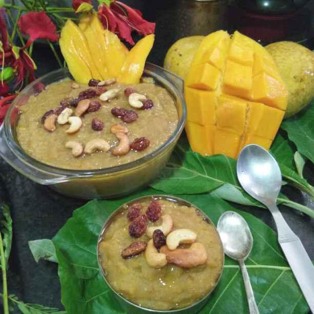 How to make Sakkarai(sweet) mango oats pongal