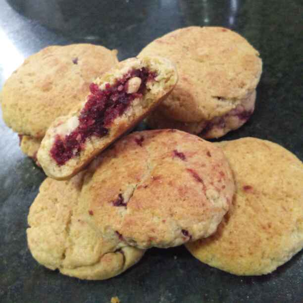 Photo of Kadai par bane beetroot chunda aata cookies/biscuit by Zulekha Bose at BetterButter