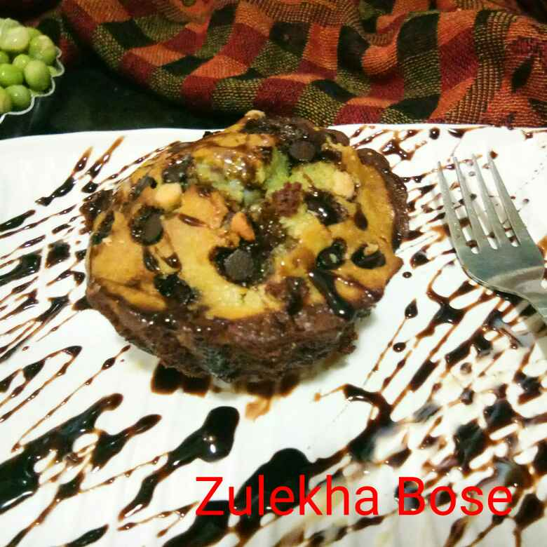 Photo of Choco and peas double layer cup cake by Zulekha Bose at BetterButter