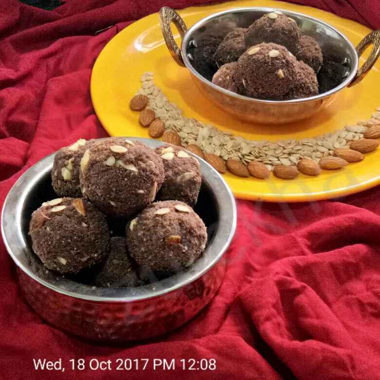 How to make Choclate kabuli chana laddu