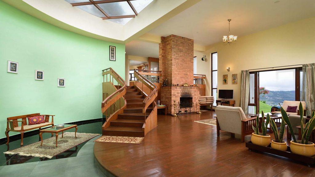 Modern interiors, spacious hill facing house