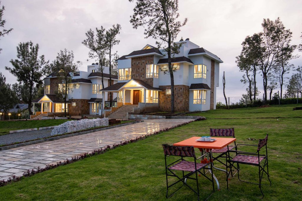 Modern, spacious villa with vast lawn outside