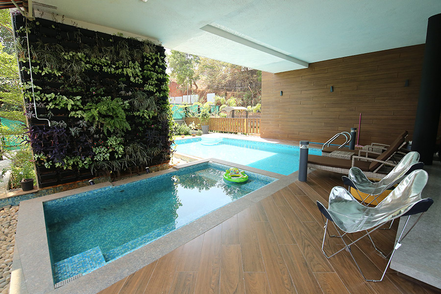 Poolside and sitting deck