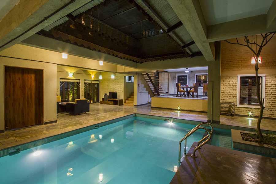 Indoor pool in villa