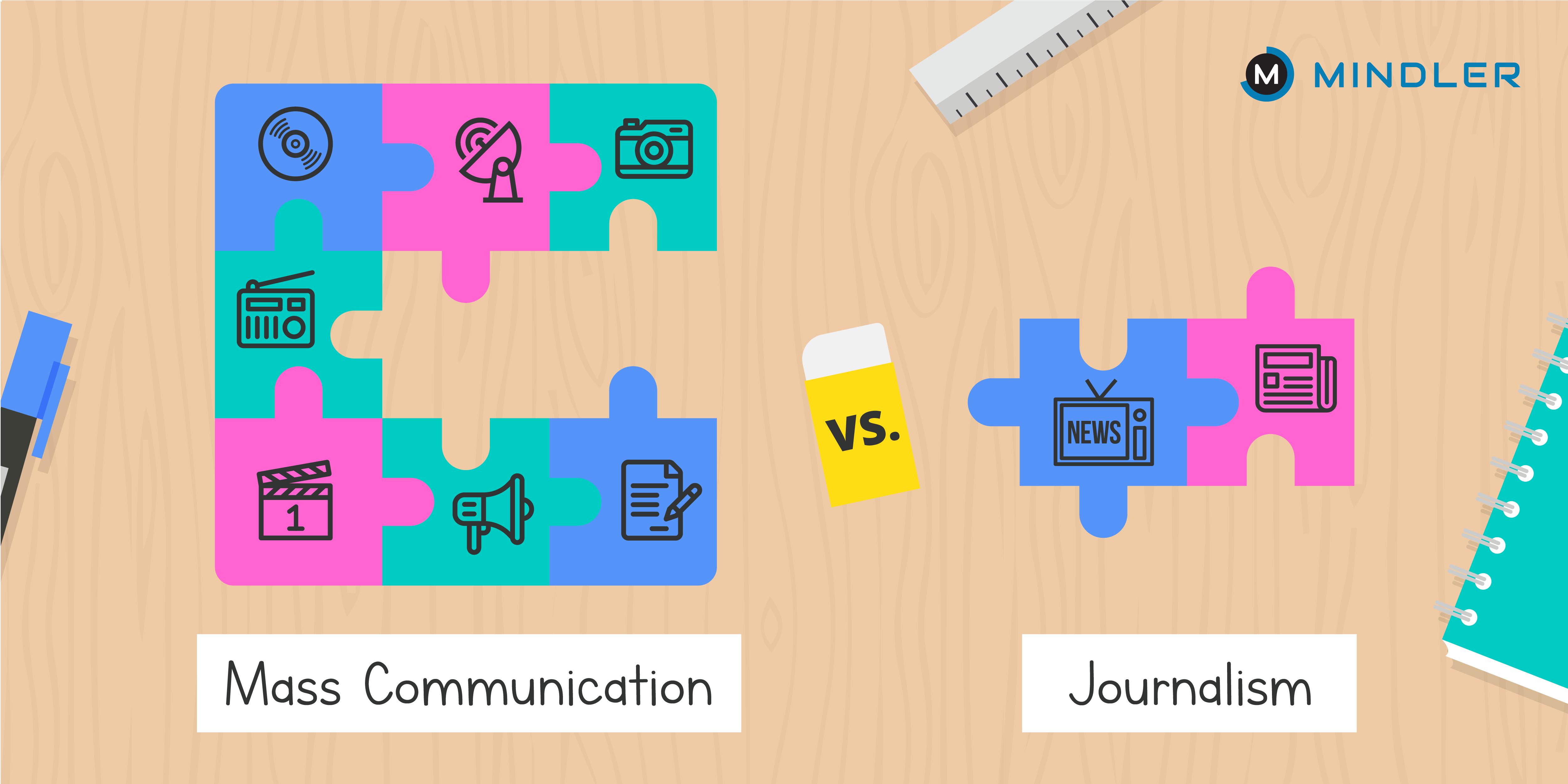 mass communication vs journalism
