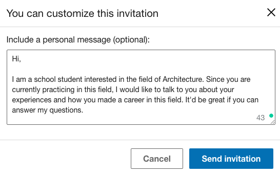 LinkedIn-connection-request-message