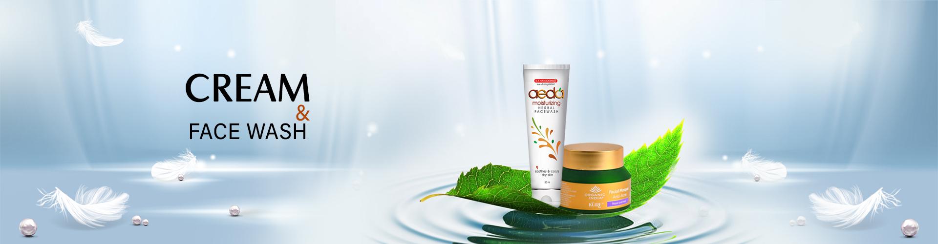 Cream & Face wash