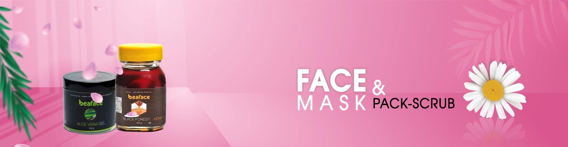 Face mask, Pack & Scrub