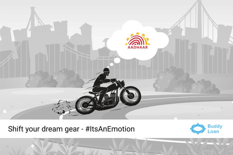 Two-wheeler/Bike Loan Online with Aadhaar Card