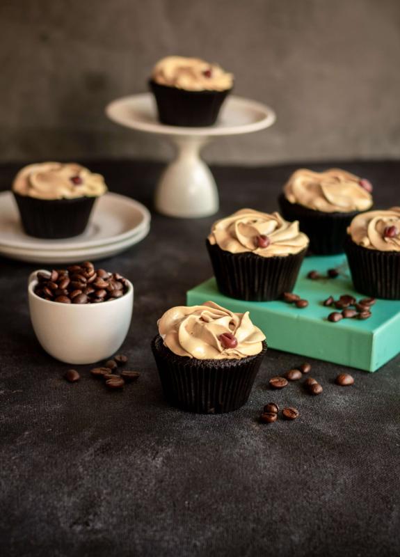 Cupcake coffee choc