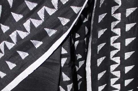100 count Linen with Jamdani work