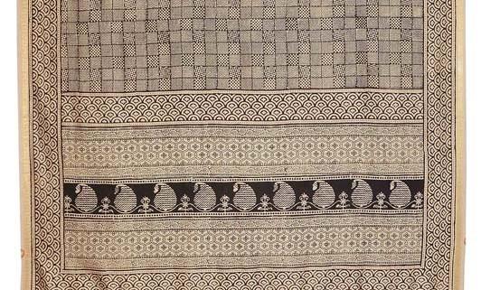 Bagh Print Silk Handloom Duptta