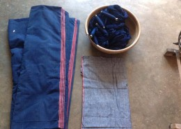 Natural indigo dyed Hand spun Yarn _ Khadi Fabric